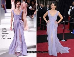 Mila Kunis In Elie Saab Couture – 2011 Oscars