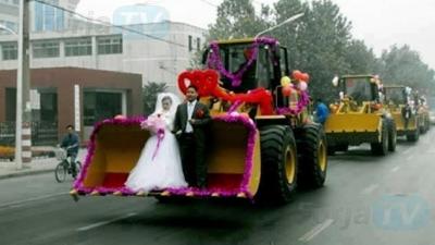 Wedding Convoy... Bulldozers???